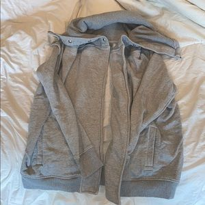 Athleta Draped-Neck Open Sweatshirt Sz M